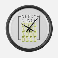 Nerdy Since 1987 Large Wall Clock