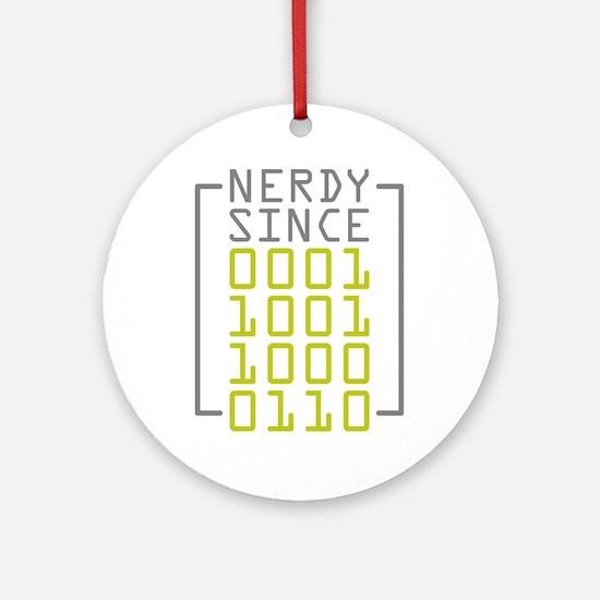 Nerdy Since 1986 Ornament (Round)