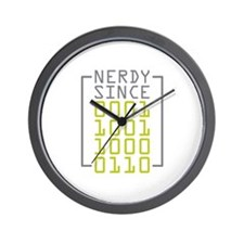 Nerdy Since 1986 Wall Clock