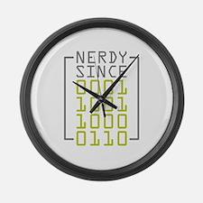 Nerdy Since 1986 Large Wall Clock
