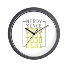 Nerdy Since 1985 Wall Clock