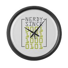 Nerdy Since 1985 Large Wall Clock