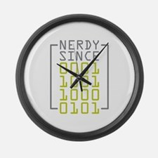 Nerdy Since 1985 Large Wall Clock
