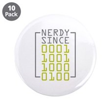 """Nerdy Since 1984 3.5"""" Button (10 pack)"""
