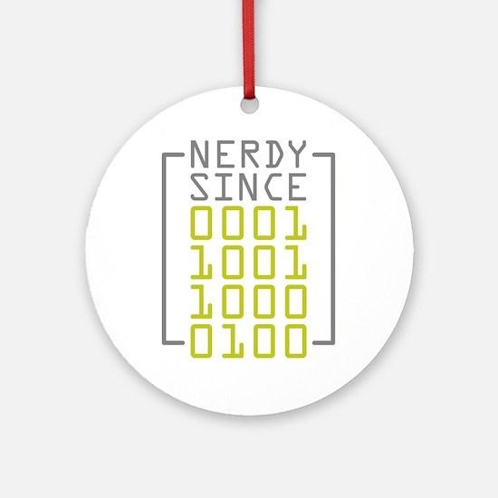 Nerdy Since 1984 Ornament (Round)