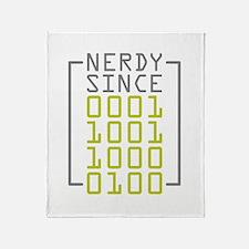 Nerdy Since 1984 Throw Blanket