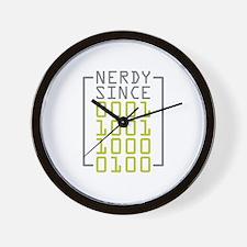 Nerdy Since 1984 Wall Clock