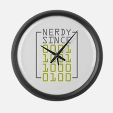 Nerdy Since 1984 Large Wall Clock