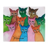 Cat lover Fleece Blankets