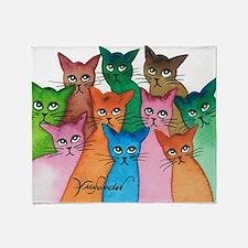Cayo Stray Cats Throw Blanket