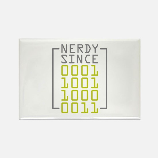 Nerdy Since 1983 Rectangle Magnet