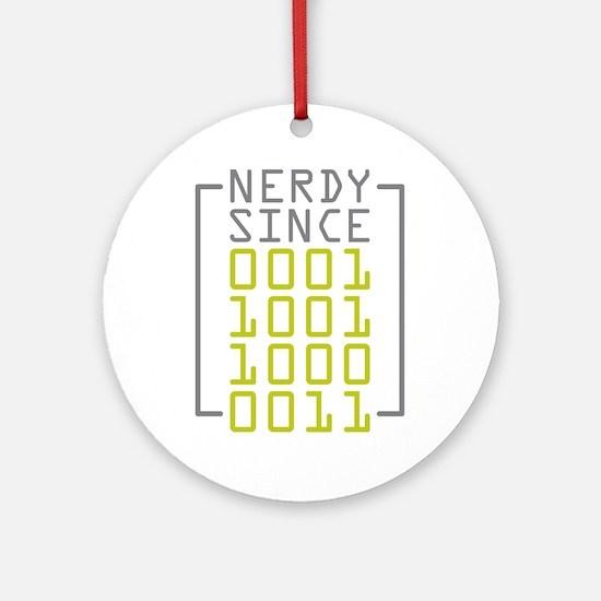 Nerdy Since 1983 Ornament (Round)