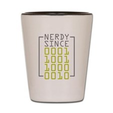 Nerdy Since 1982 Shot Glass