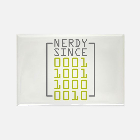 Nerdy Since 1982 Rectangle Magnet