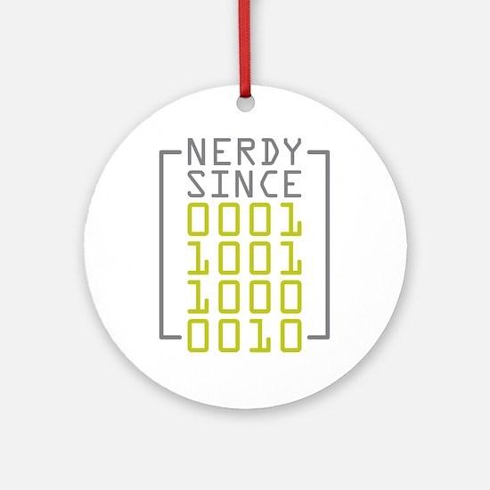 Nerdy Since 1982 Ornament (Round)