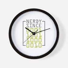Nerdy Since 1982 Wall Clock