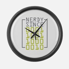 Nerdy Since 1982 Large Wall Clock