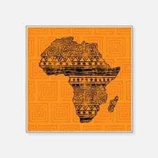 "Africa Pattern Square Sticker 3"" x 3"""