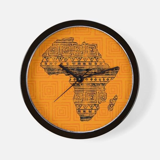 Africa Pattern Wall Clock