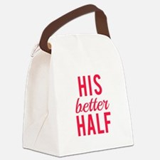 His better half Canvas Lunch Bag