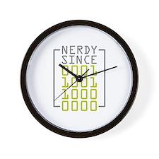 Nerdy Since 1980 Wall Clock