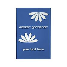 Custom Business Master Gardener Logo Blue Magnets
