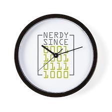 Nerdy Since 1978 Wall Clock