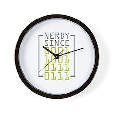 Nerdy Since 1977 Wall Clock