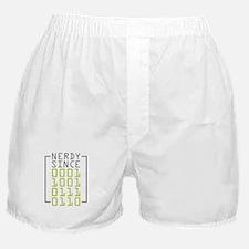 Nerdy Since 1976 Boxer Shorts