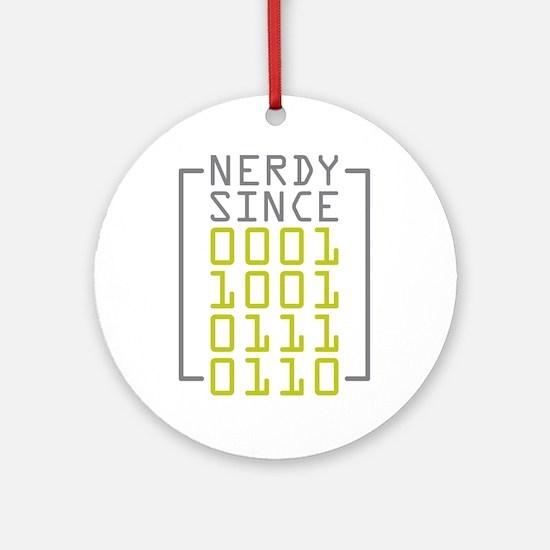 Nerdy Since 1976 Ornament (Round)