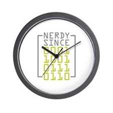 Nerdy Since 1976 Wall Clock