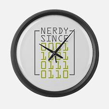Nerdy Since 1976 Large Wall Clock
