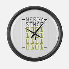 Nerdy Since 1975 Large Wall Clock