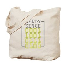 Nerdy Since 1974 Tote Bag