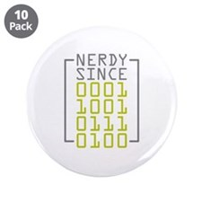 """Nerdy Since 1974 3.5"""" Button (10 pack)"""