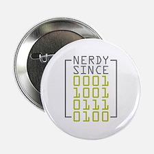 "Nerdy Since 1974 2.25"" Button"