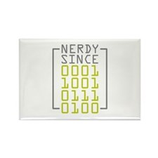 Nerdy Since 1974 Rectangle Magnet