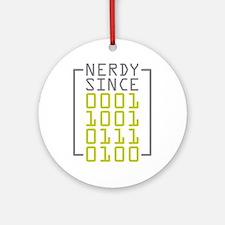 Nerdy Since 1974 Ornament (Round)