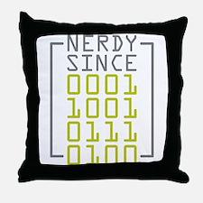 Nerdy Since 1974 Throw Pillow