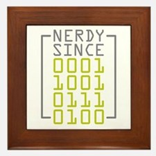 Nerdy Since 1974 Framed Tile