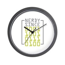 Nerdy Since 1974 Wall Clock