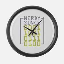 Nerdy Since 1974 Large Wall Clock