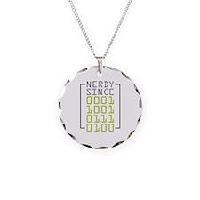 Nerdy Since 1974 Necklace Circle Charm