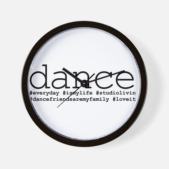 dance hashtags Wall Clock