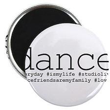 dance hashtags Magnet