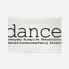 dance hashtags Rectangle Magnet (10 pack)
