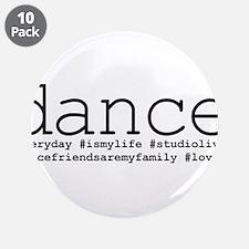"dance hashtags 3.5"" Button (10 pack)"
