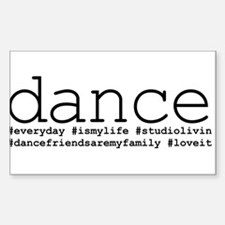 dance hashtags Decal