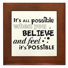 Motivational Saying Framed Tile