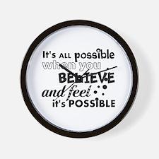 Motivational Saying Wall Clock
